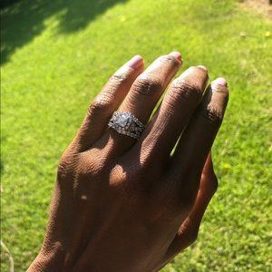 Wedding Set with Engagement